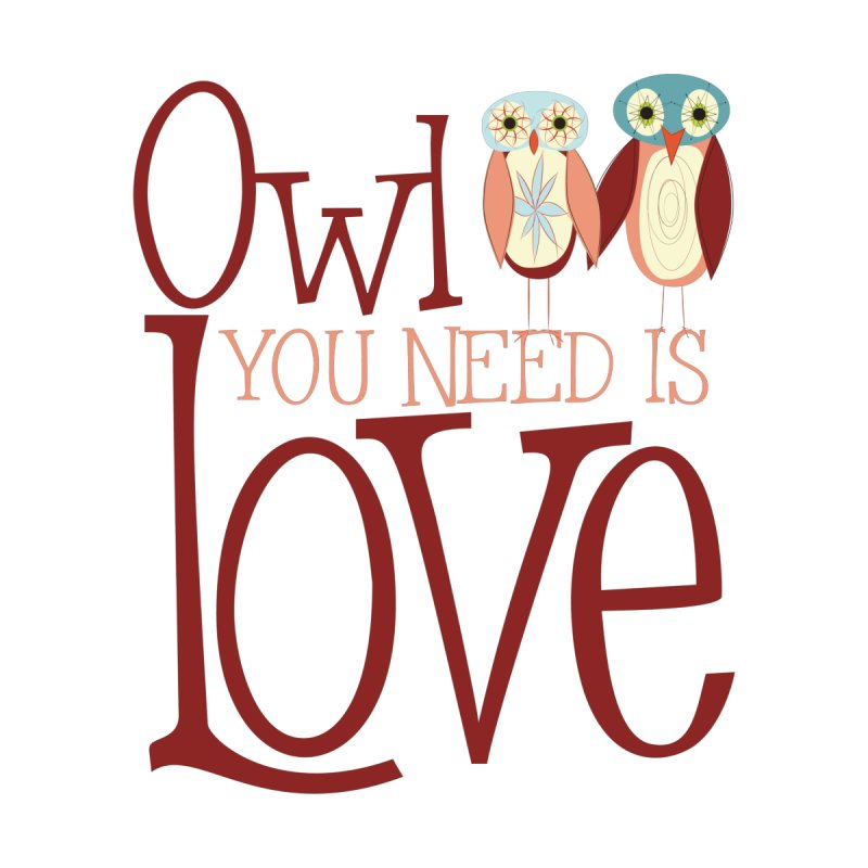 Owl You Need Is Love Accessories Beach Towel by Runderella's Artist Shop