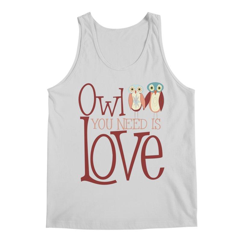 Owl You Need Is Love Men's Regular Tank by Runderella's Artist Shop