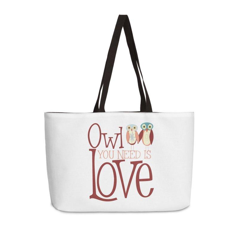 Owl You Need Is Love Accessories Weekender Bag Bag by Runderella's Artist Shop