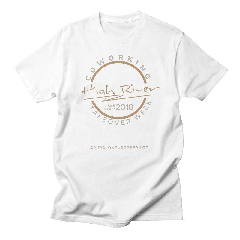 High River Coworking T-shirt in Men's Regular T-Shirt White by RuralOnPurpose