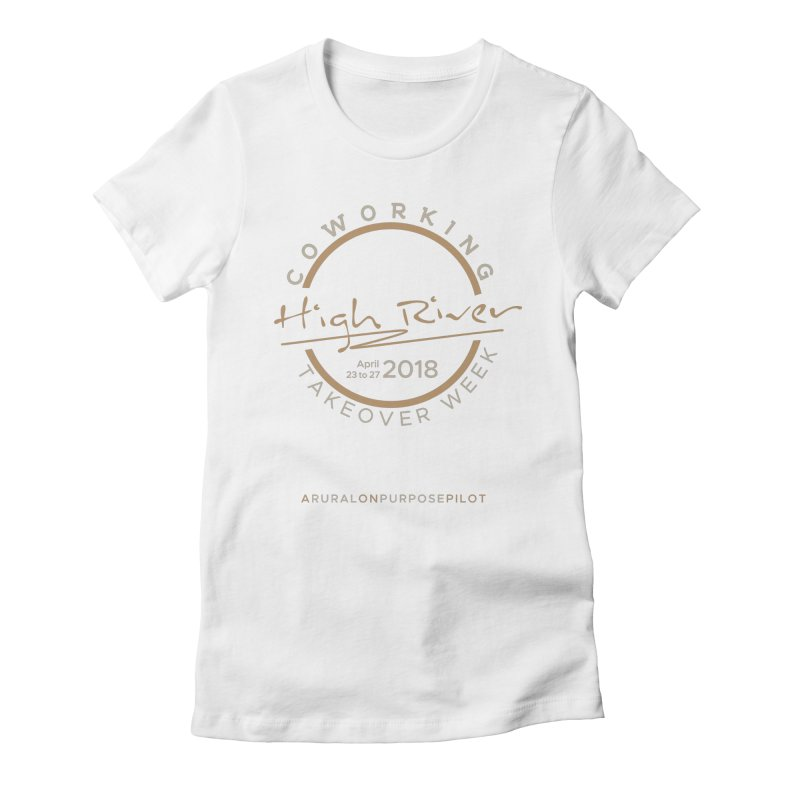 High River Coworking T-shirt Women's Fitted T-Shirt by RuralOnPurpose