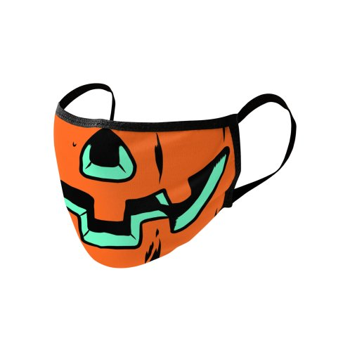 Design for Retro Inspired Jack O Lantern Face Mask