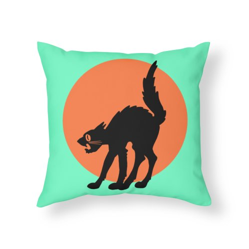 Design for Vintage Style Halloween Cat Pillow