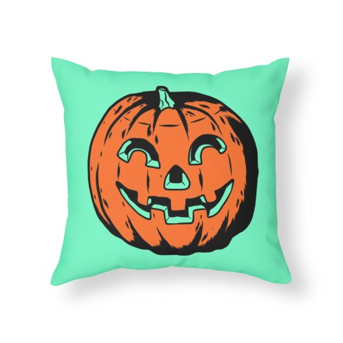 Design for Retro Inspired Jack o Lantern Throw Pillow