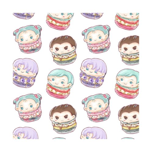 Design for CC Family Chibi Macarons