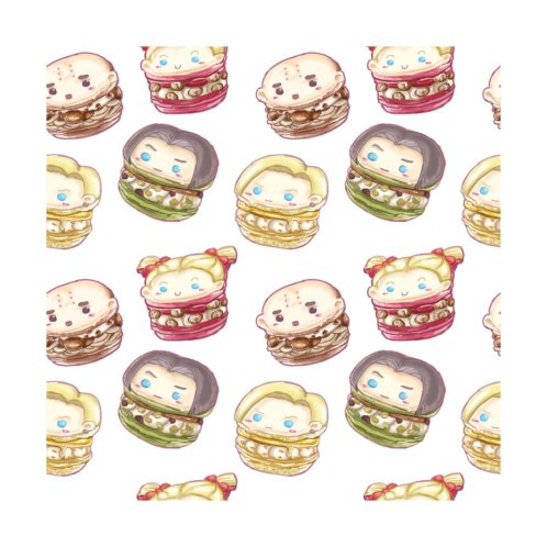 Design for Krillin & Android Family Chibi Macarons
