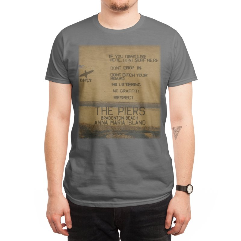 Locals Only The Piers Bradenton Beach Florida Men's T-Shirt by SWAG SurfWear