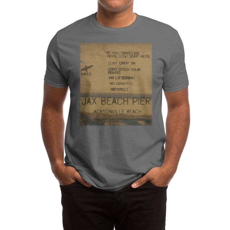 Locals Only Jax Pier Jacksonville Beach Florida Men's T-Shirt by SWAG SurfWear