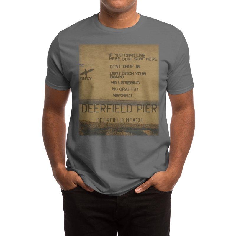 Locals Only Deerfield Pier Deerfield Beach Florida Men's T-Shirt by SWAG SurfWear