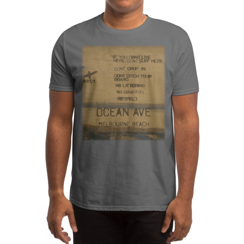 Locals Only Ocean Ave Melbourne Beach Florida Men's T-Shirt by SWAG SurfWear