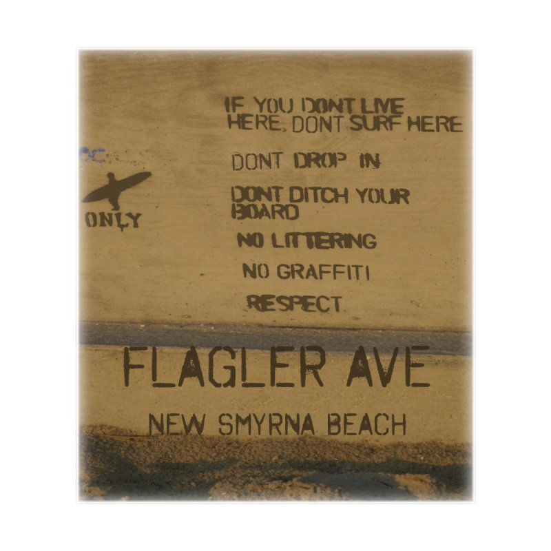 Locals Only Flagler Ave New Smyrna Beach Florida Men's T-Shirt by SWAG SurfWear