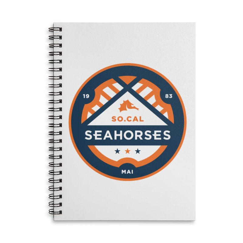 Seahorse Soccer Crest Accessories Lined Spiral Notebook by SEAHORSE SOCCER's Artist Shop