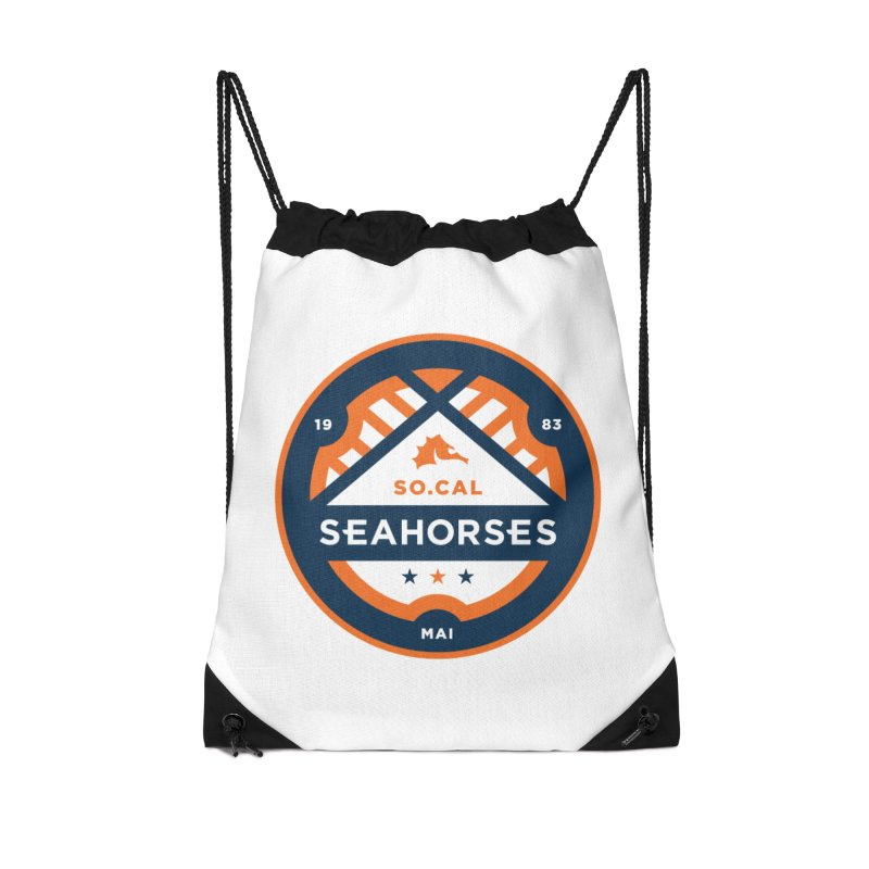 Seahorse Soccer Crest Accessories Drawstring Bag Bag by SEAHORSE SOCCER's Artist Shop
