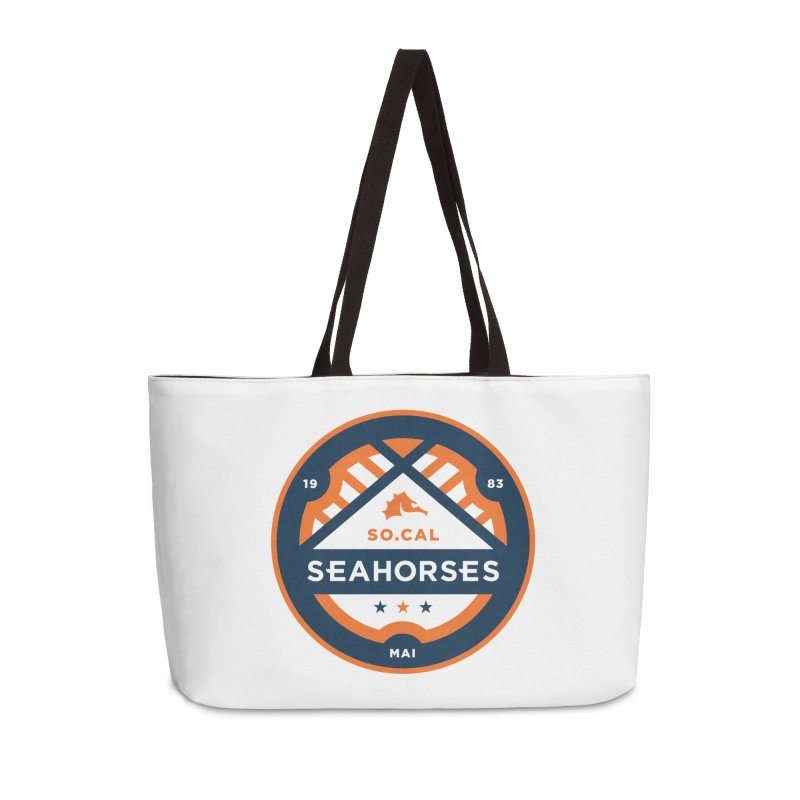 Seahorse Soccer Crest Accessories Weekender Bag Bag by SEAHORSE SOCCER's Artist Shop