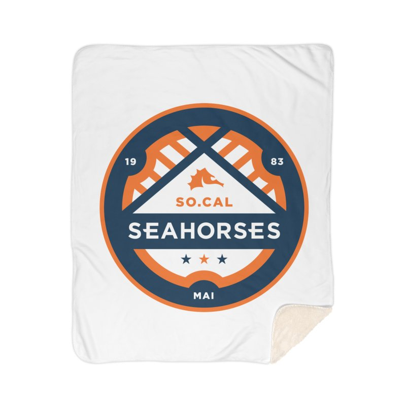 Seahorse Soccer Crest Home Sherpa Blanket Blanket by SEAHORSE SOCCER's Artist Shop