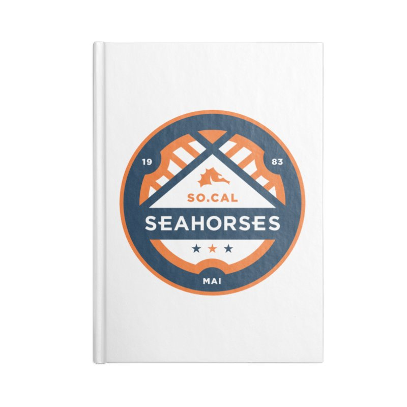 Seahorse Soccer Crest Accessories Lined Journal Notebook by SEAHORSE SOCCER's Artist Shop