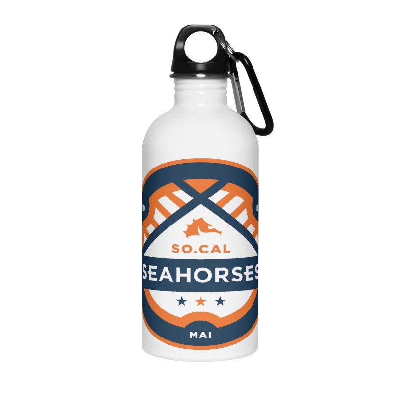 Seahorse Soccer Crest Accessories Water Bottle by SEAHORSE SOCCER's Artist Shop