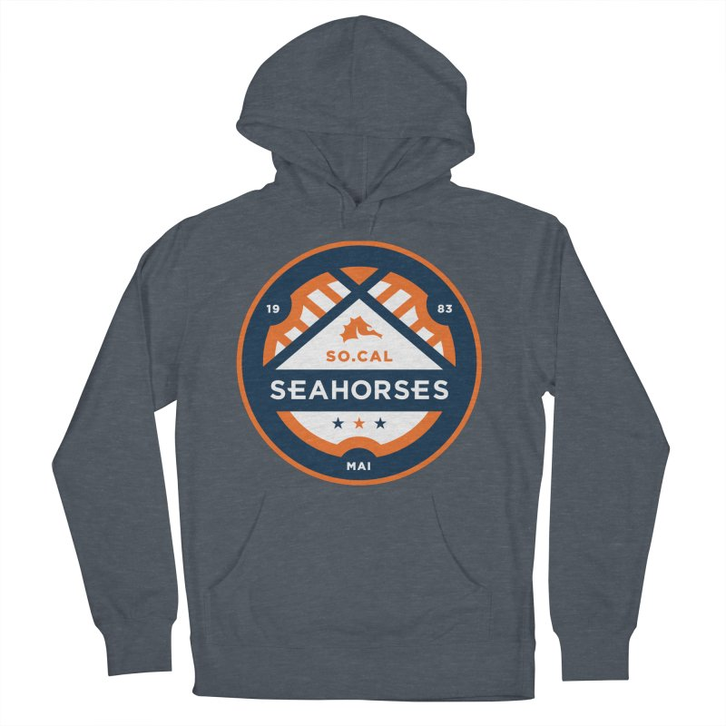 Seahorse Soccer Crest Men's French Terry Pullover Hoody by SEAHORSE SOCCER's Artist Shop