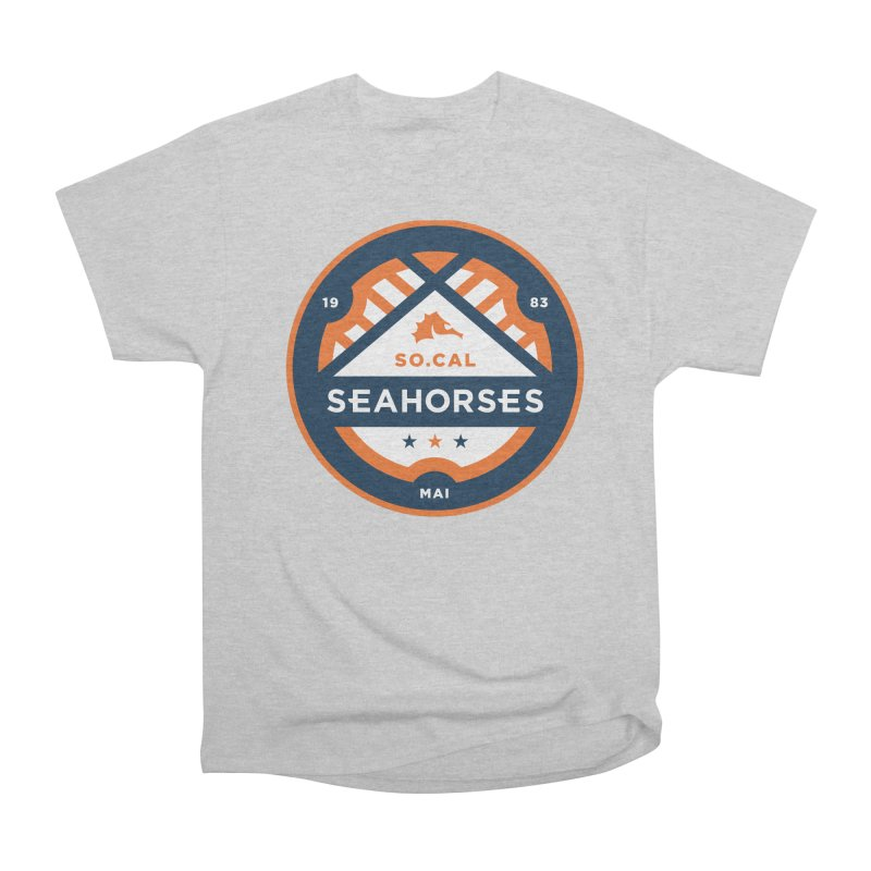 Seahorse Soccer Crest Men's Heavyweight T-Shirt by SEAHORSE SOCCER's Artist Shop