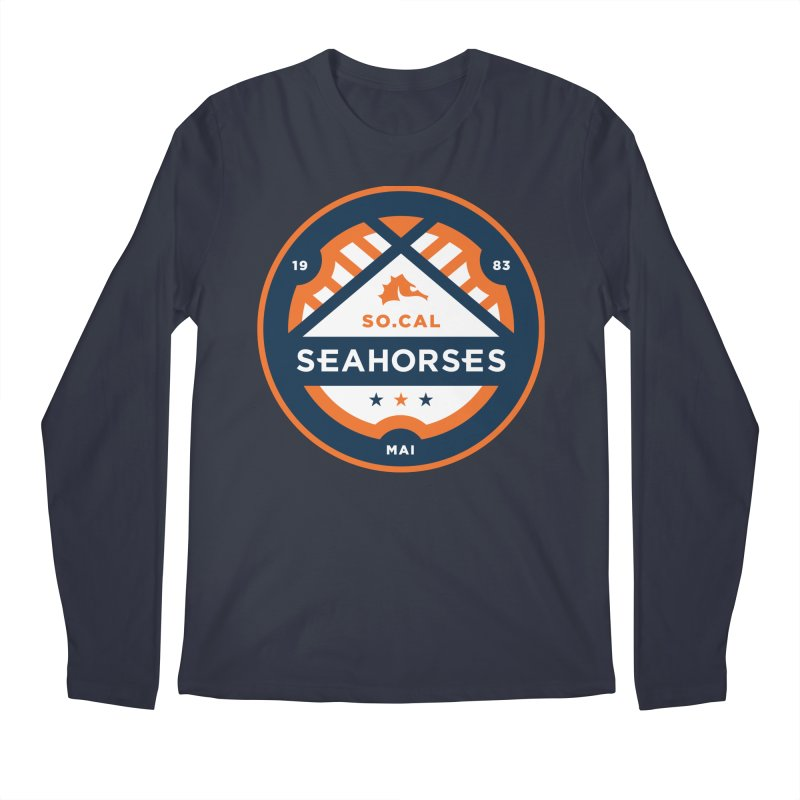 Seahorse Soccer Crest Men's Longsleeve T-Shirt by SEAHORSE SOCCER's Artist Shop
