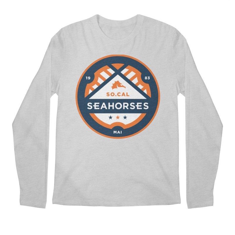 Seahorse Soccer Crest Men's Regular Longsleeve T-Shirt by SEAHORSE SOCCER's Artist Shop