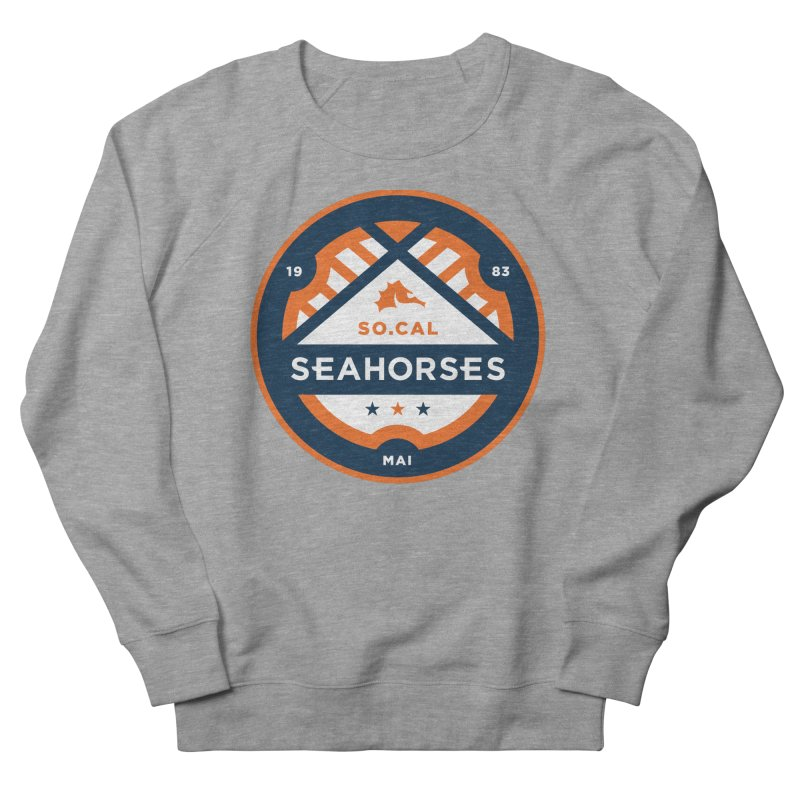 Seahorse Soccer Crest Men's French Terry Sweatshirt by SEAHORSE SOCCER's Artist Shop