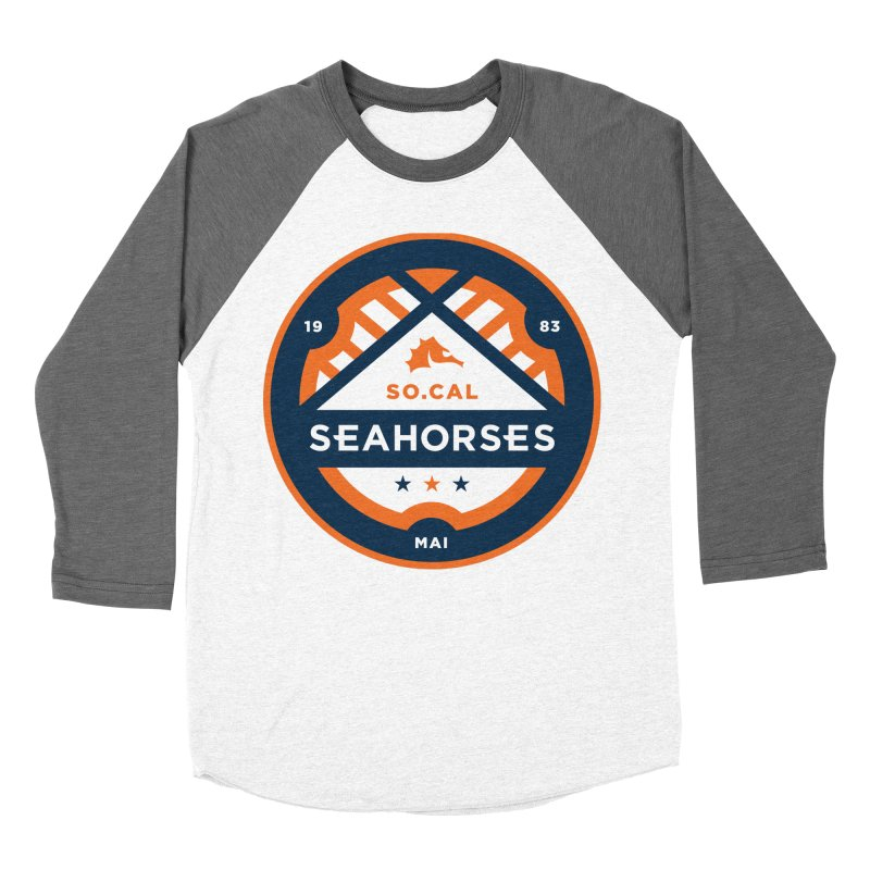 Seahorse Soccer Crest Men's Baseball Triblend Longsleeve T-Shirt by SEAHORSE SOCCER's Artist Shop