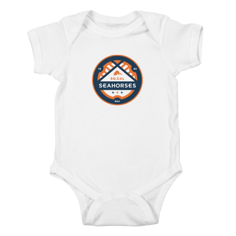 Seahorse Soccer Crest Kids Baby Bodysuit by SEAHORSE SOCCER's Artist Shop