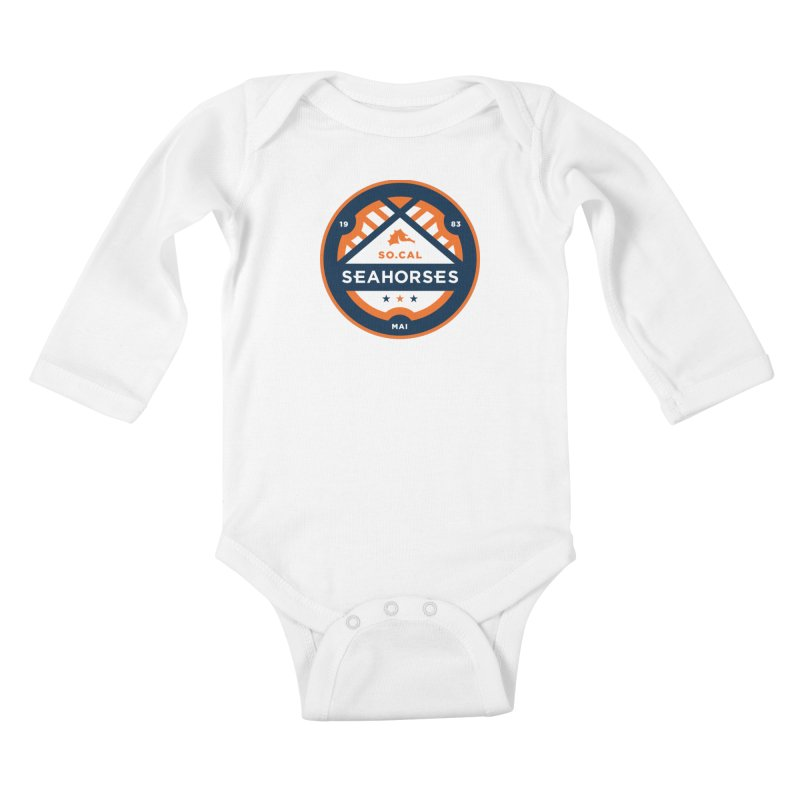 Seahorse Soccer Crest Kids Baby Longsleeve Bodysuit by SEAHORSE SOCCER's Artist Shop