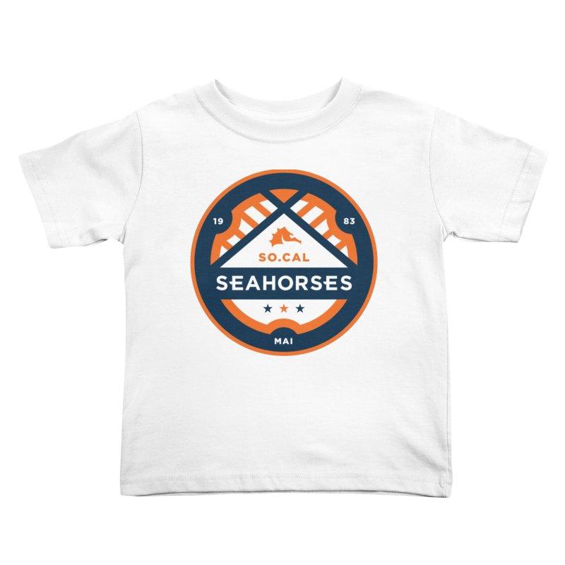 Seahorse Soccer Crest Kids Toddler T-Shirt by SEAHORSE SOCCER's Artist Shop