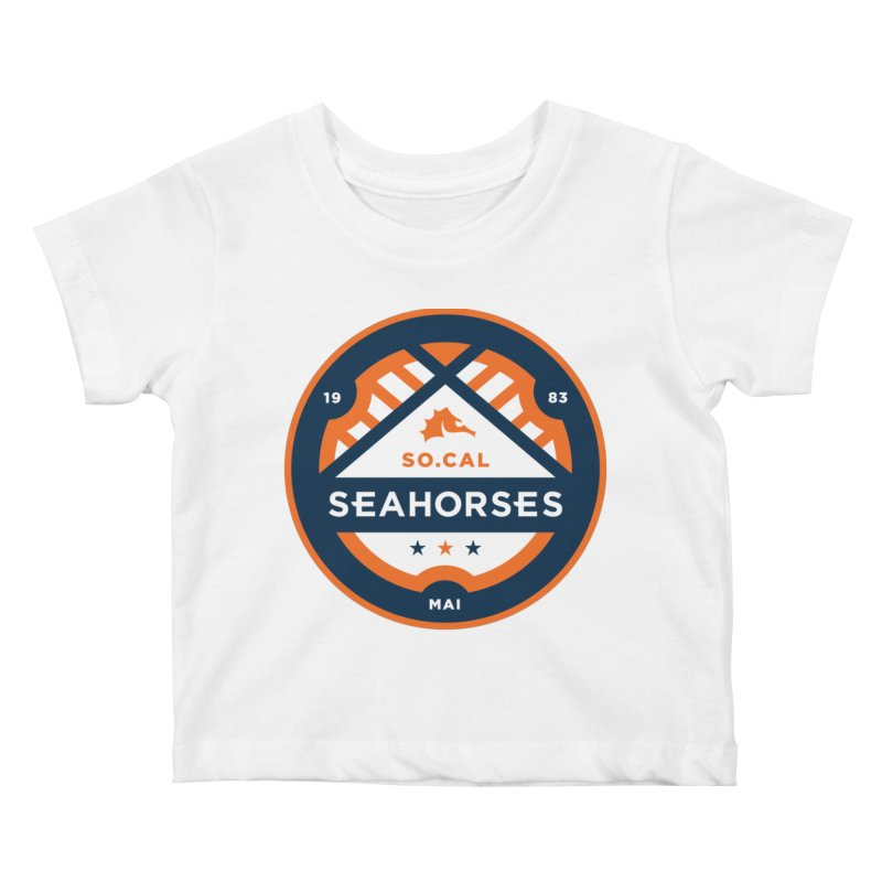 Seahorse Soccer Crest Kids Baby T-Shirt by SEAHORSE SOCCER's Artist Shop