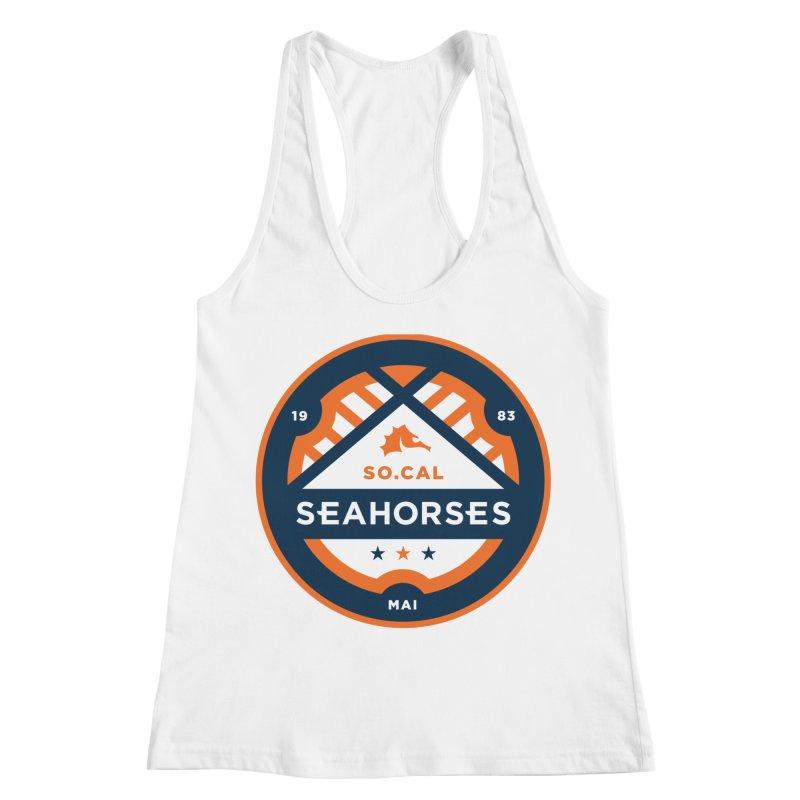 Seahorse Soccer Crest Women's Racerback Tank by SEAHORSE SOCCER's Artist Shop