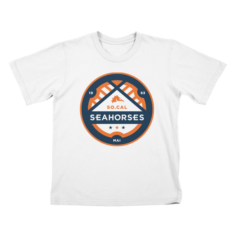 Seahorse Soccer Crest Kids T-Shirt by SEAHORSE SOCCER's Artist Shop