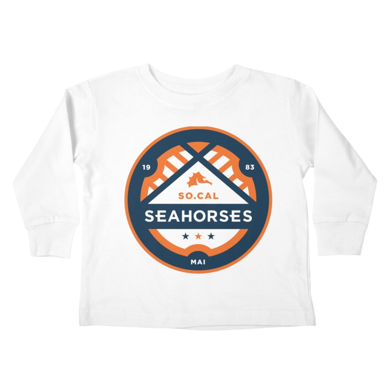 Seahorse Soccer Crest Kids Toddler Longsleeve T-Shirt by SEAHORSE SOCCER's Artist Shop