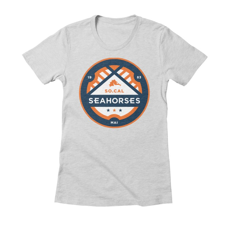 Seahorse Soccer Crest Women's Fitted T-Shirt by SEAHORSE SOCCER's Artist Shop