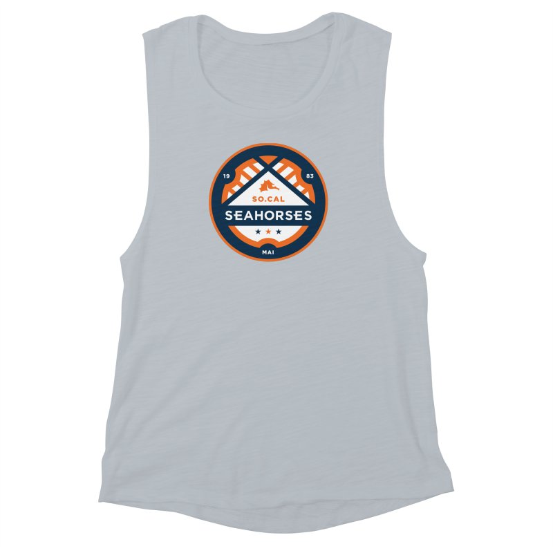 Seahorse Soccer Crest Women's Muscle Tank by SEAHORSE SOCCER's Artist Shop