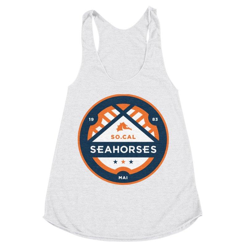 Seahorse Soccer Crest Women's Racerback Triblend Tank by SEAHORSE SOCCER's Artist Shop