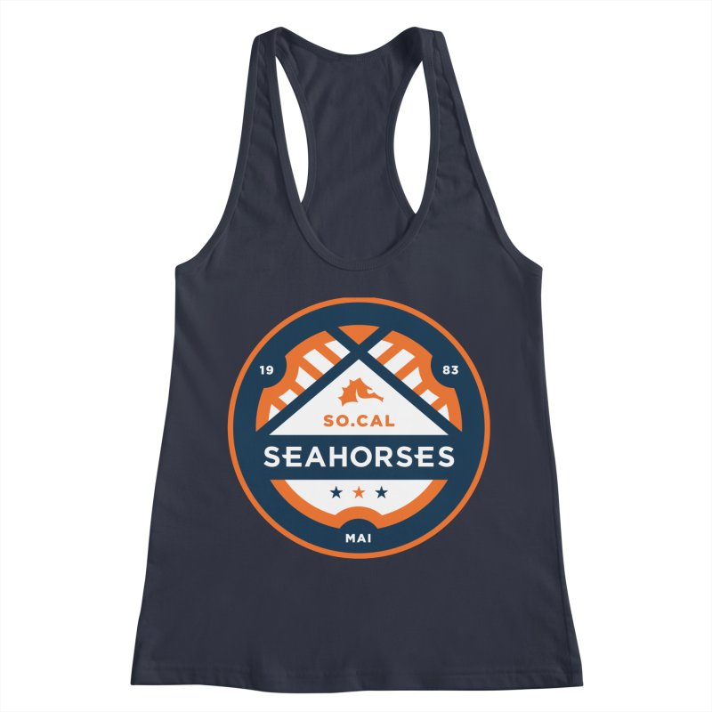 Seahorse Soccer Crest Women's Racerback Tank by SEAHORSE SOCCER's Artist Shop