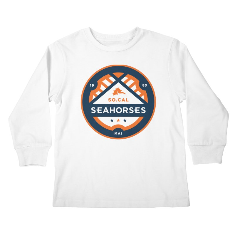 Seahorse Soccer Crest Kids Longsleeve T-Shirt by SEAHORSE SOCCER's Artist Shop