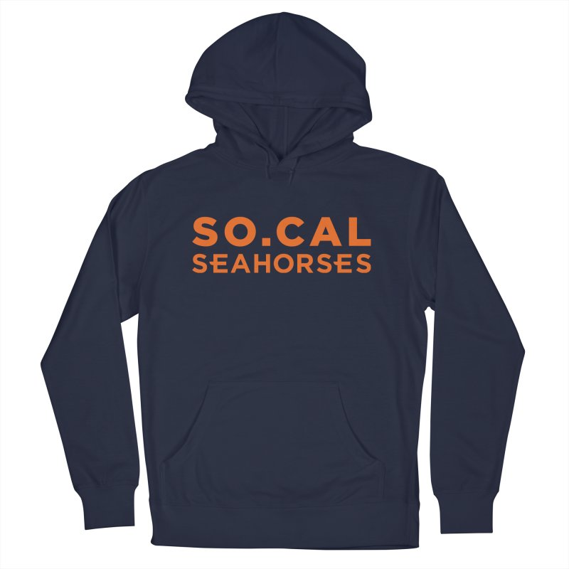Seahorse Wordmark - Orange Men's French Terry Pullover Hoody by SEAHORSE SOCCER's Artist Shop
