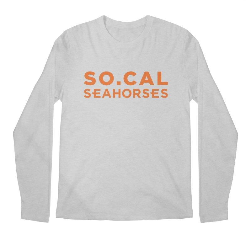 Seahorse Wordmark - Orange Men's Regular Longsleeve T-Shirt by SEAHORSE SOCCER's Artist Shop