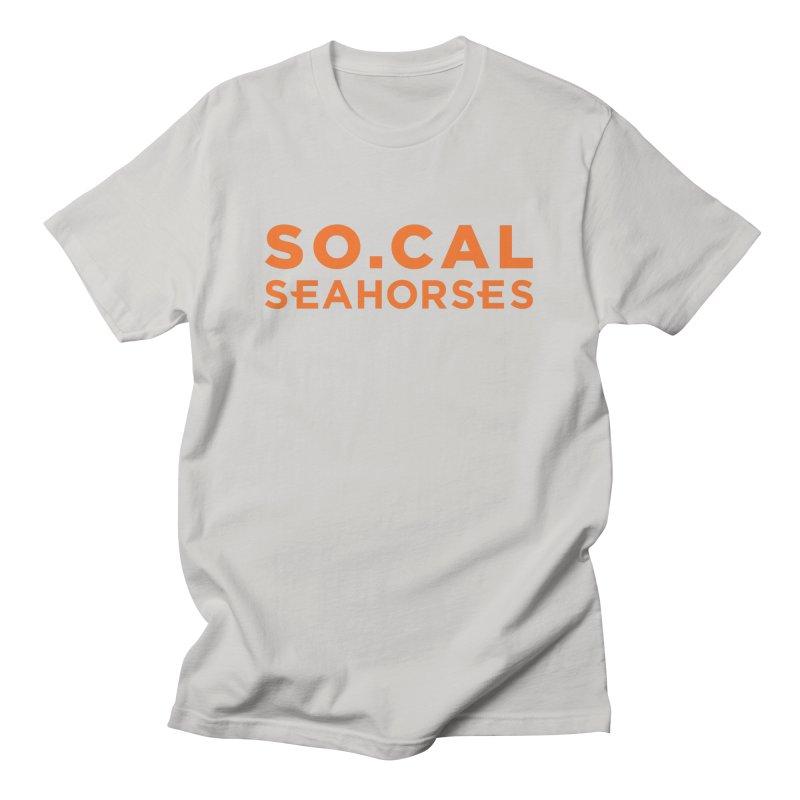 Seahorse Wordmark - Orange Men's T-Shirt by SEAHORSE SOCCER's Artist Shop
