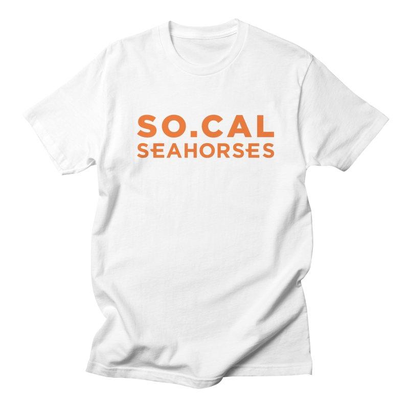 Seahorse Wordmark - Orange Men's Regular T-Shirt by SEAHORSE SOCCER's Artist Shop