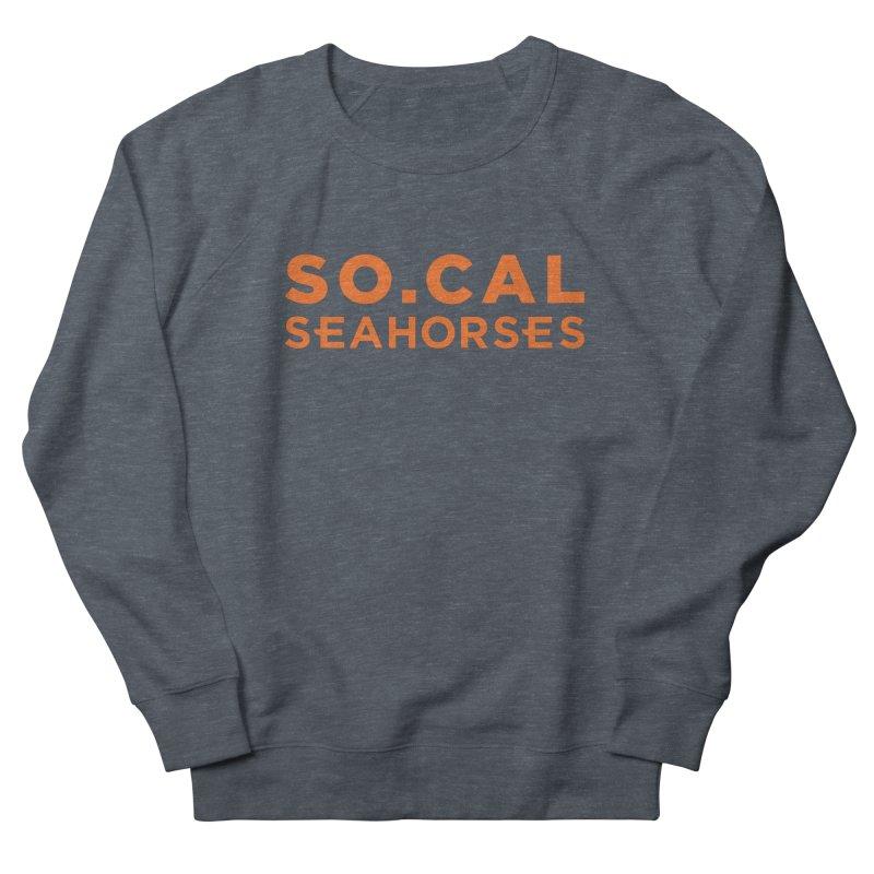 Seahorse Wordmark - Orange Men's Sweatshirt by SEAHORSE SOCCER's Artist Shop