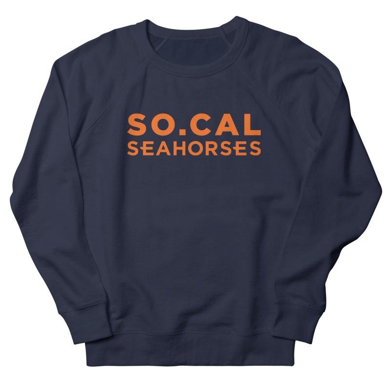 Seahorse Wordmark - Orange Men's French Terry Sweatshirt by SEAHORSE SOCCER's Artist Shop