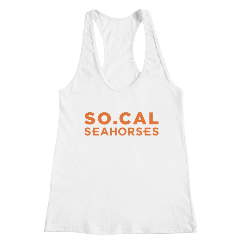 Seahorse Wordmark - Orange Women's Tank by SEAHORSE SOCCER's Artist Shop