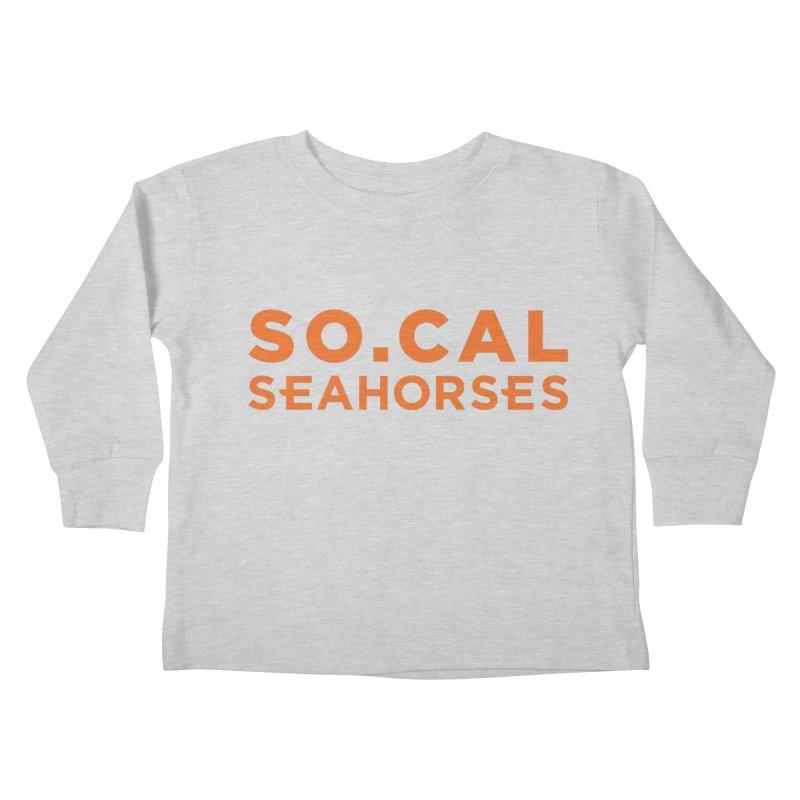 Seahorse Wordmark - Orange Kids Toddler Longsleeve T-Shirt by SEAHORSE SOCCER's Artist Shop