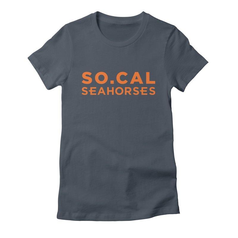Seahorse Wordmark - Orange Women's T-Shirt by SEAHORSE SOCCER's Artist Shop