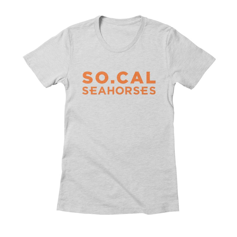 Seahorse Wordmark - Orange Women's Fitted T-Shirt by SEAHORSE SOCCER's Artist Shop