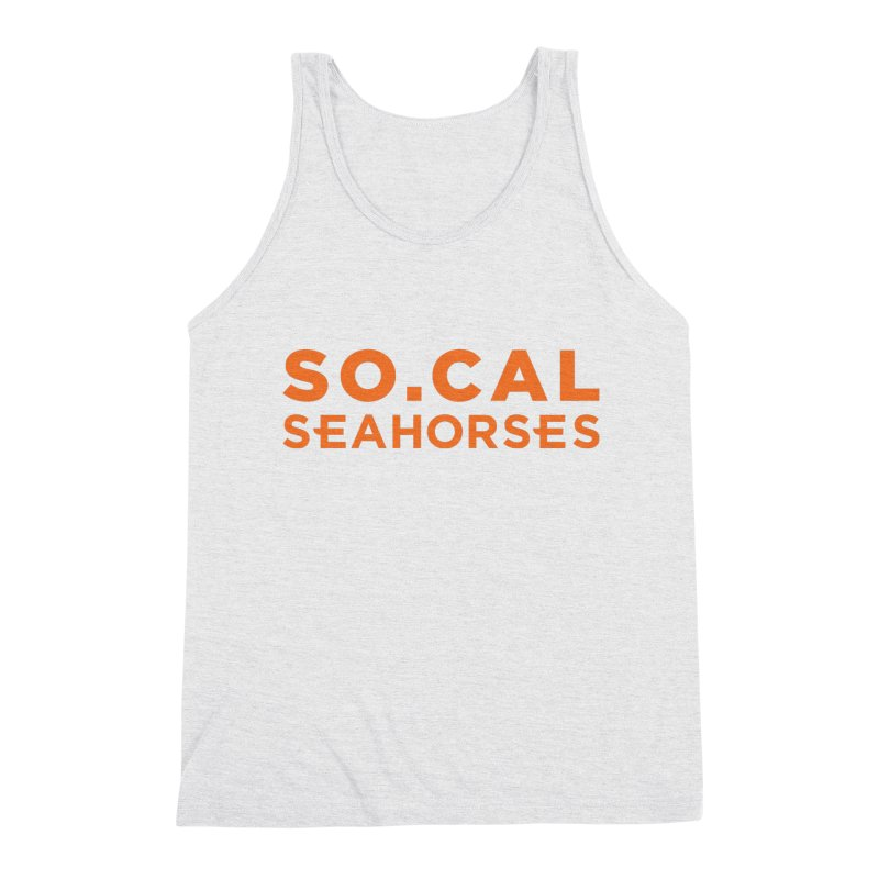 Seahorse Wordmark - Orange Men's Triblend Tank by SEAHORSE SOCCER's Artist Shop